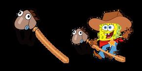 SpongeBob Cowboy Yeehaw Meme Cursor
