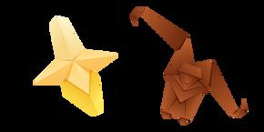 Origami Monkey and Banana Cursor