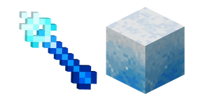 Minecraft Ice Wand and Ice Block Cursor