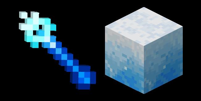Minecraft Ледяной Жезл и Ледяной Блок
