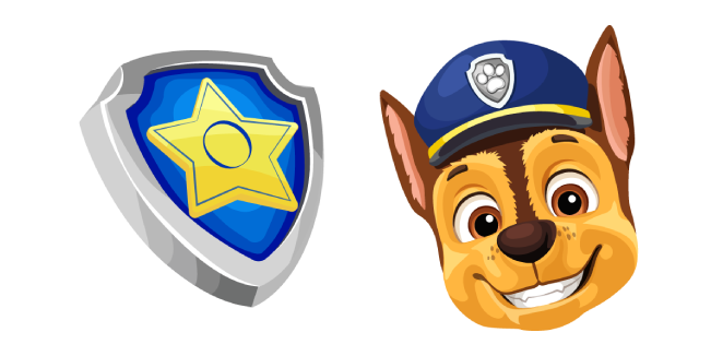 Paw Patrol Chase and Pup Tag