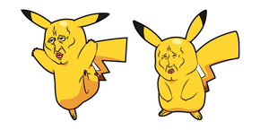 Handsome Pikachu Meme Cursor