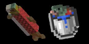 Minecraft Bucket of Salmon and Salmon Curseur