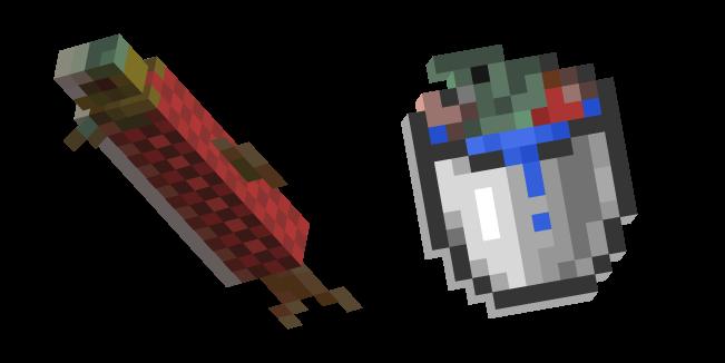 Minecraft Bucket of Salmon and Salmon