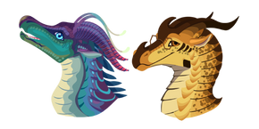 Wings of Fire Blue and Cricket Cursor