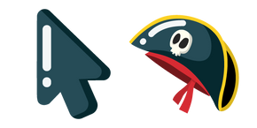 Курсор Минималистичкая Пиратская Шляпа