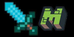 Minecraft Diamond Sword & Logo Curseur