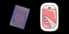 VSCO Girl Passport and Airplane Window Curseur
