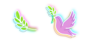 Neon Pigeon and Leaf Curseur