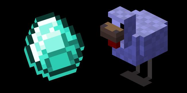 Minecraft Diamond Chicken and Diamond Egg