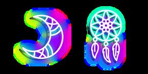 Neon Dream Catcher and Moon Cursor