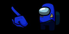 Among Us Star Trek Blue Uniform Character Cursor