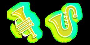 Neon Saxophone and Trumpet Curseur