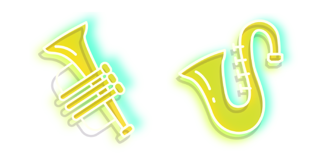 Neon Saxophone and Trumpet