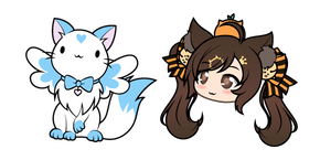 Gacha Life Rambo Nyan Kitty and Magical Neko Cursor