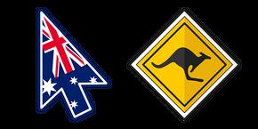 Australia Kangaroo Sign Cursor