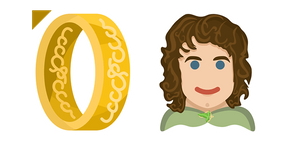 Lord of the Rings Frodo Baggins & One Ring Cursor