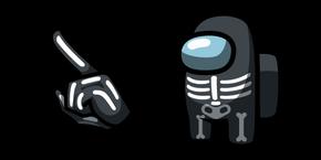 Among Us Skeleton Character Cursor