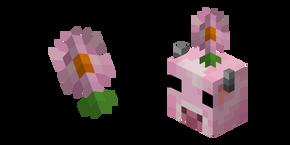 Minecraft Moolip and Pink Daisy Cursor