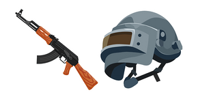 PUBG Helmet and AKM Curseur