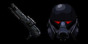 Курсор Звездные Войны Темный Солдат и Винтовка Бластер
