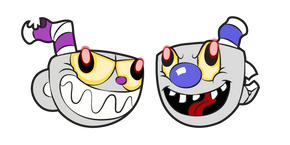 Cuphead Evil Cuphead and Vile Mugman Curseur