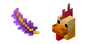 Minecraft Fancy Chicken and Fancy Feather Cursor