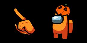 Among Us Mr. Pumpkin Character Cursor