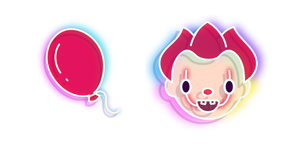 Neon Balloon and Pennywise Cursor