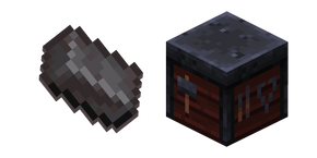 Minecraft Smithing Table and Netherite Cursor