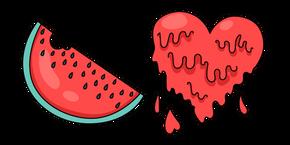 VSCO Girl Watermelon and Heart Cursor