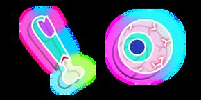 Neon Finger and Eye Cursor