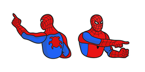 Spider-Man Pointing at Spider-Man Meme Cursor