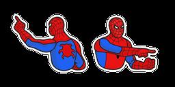 Spider-Man Pointing at Spider-Man Meme Cursor