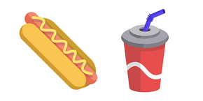 Hot Dog and Cola Curseur