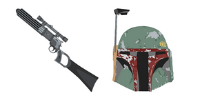 Star Wars Boba Fett Blaster EE-3 Carbine Rifle Cursor