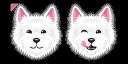 Cute Westie Dog Cursor