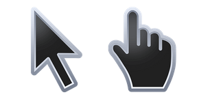 Black with Chrome Stroke Cursor