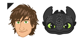 HTTYD Hiccup & Toothless Curseur