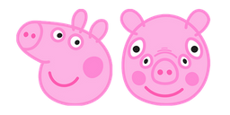 Peppa Pig Front View Curseur