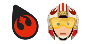 Star Wars Rebel Alliance Logo and Luke Cursor