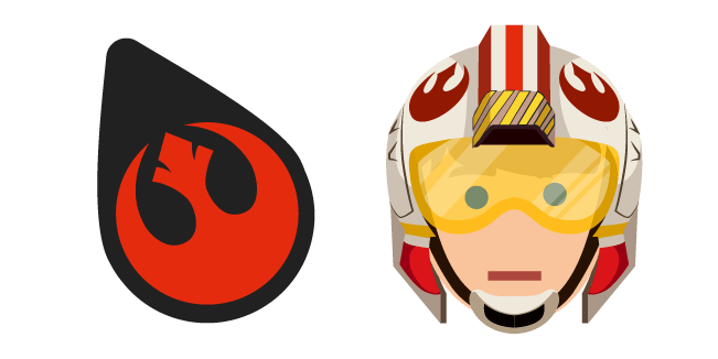 Star Wars Rebel Alliance Logo and Luke