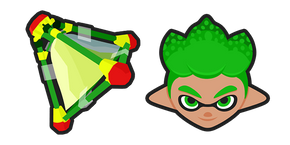 Курсор Splatoon 2 Green Inkling Splat Bomb