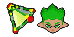 Splatoon 2 Green Inkling Splat Bomb Cursor
