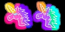 Pink and Purple Unicorn Neon Cursor