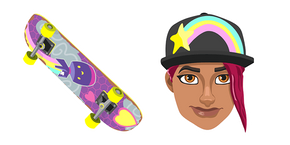 Fortnite Beach Bomber Skin Brite Board Cursor