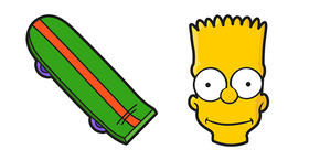 The Simpsons Bart Skateboard Curseur