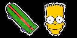 The Simpsons Bart Skateboard Cursor