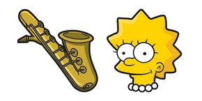 The Simpsons Lisa Saxophone Curseur