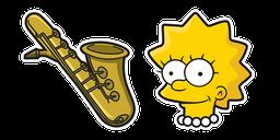 The Simpsons Lisa Saxophone Cursor